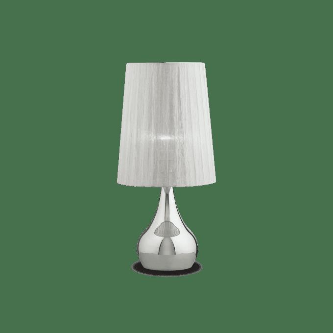 Lámpara de sobremesa de Hierro y color Plata