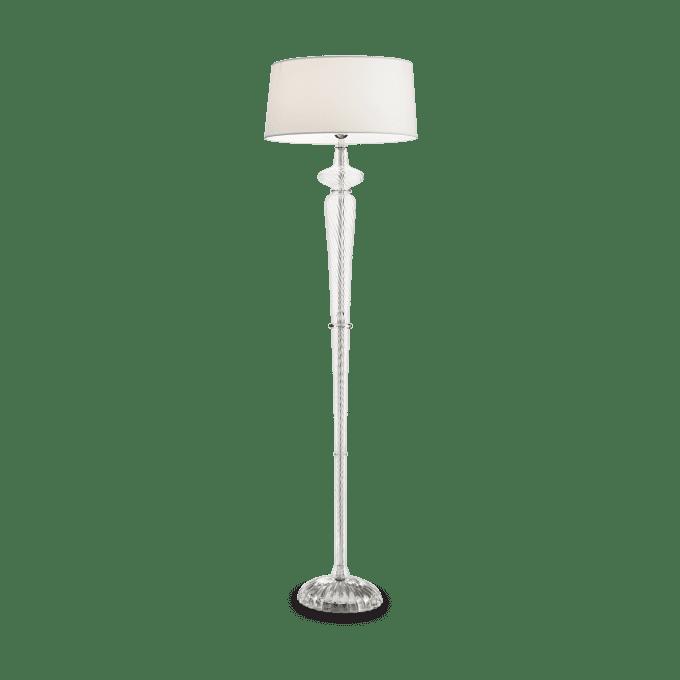 Lámpara de pie de Cristal y color Blanco