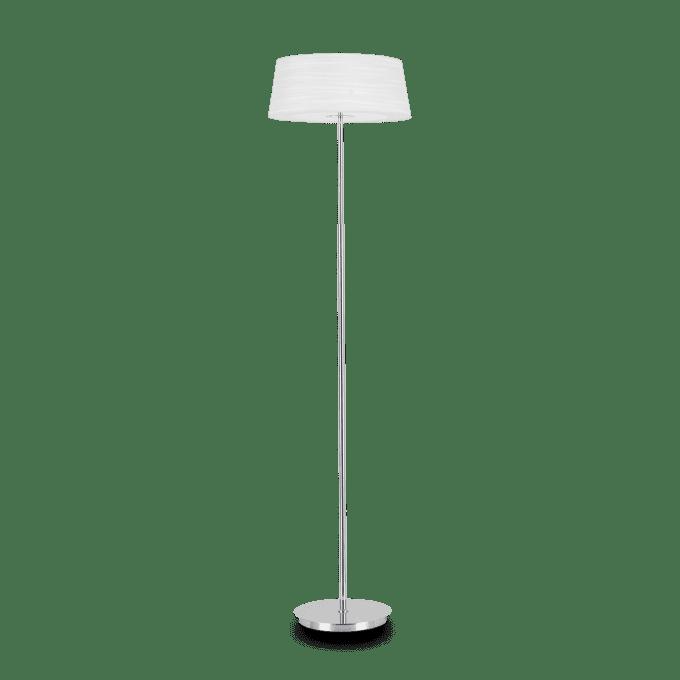 Lámpara de pie de Tela y color Blanco