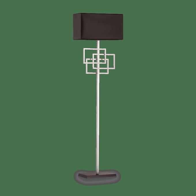 Lámpara de pie de Hierro y color Cromo