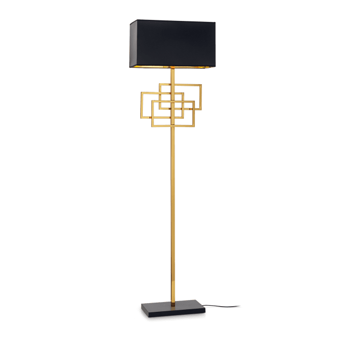Lámpara de pie de Hierro y color Latón