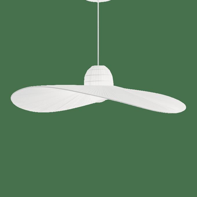 Lámpara colgante de Tela y color Blanco