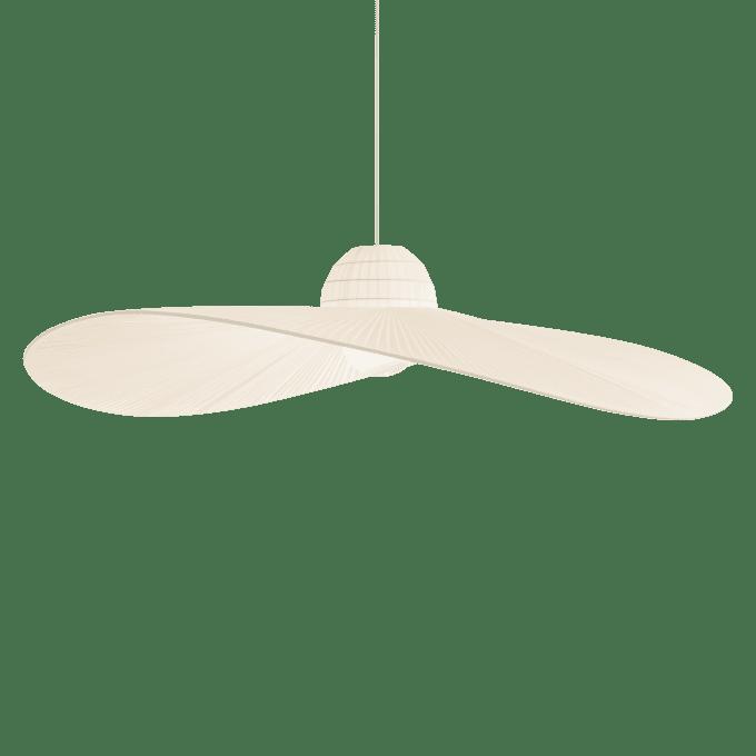 Lámpara colgante de Tela y color Marfil