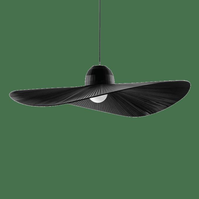 Lámpara colgante de Tela y color Negro