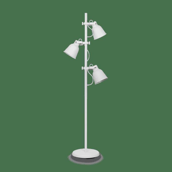 Lámpara de pie de Hierro y color Blanco