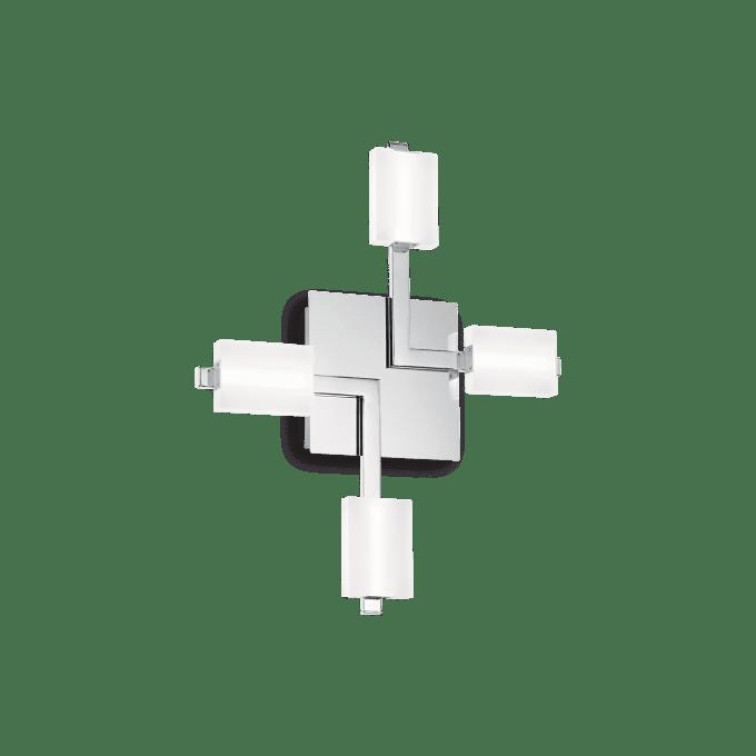 Lámpara de techo de Hierro y color Cromo