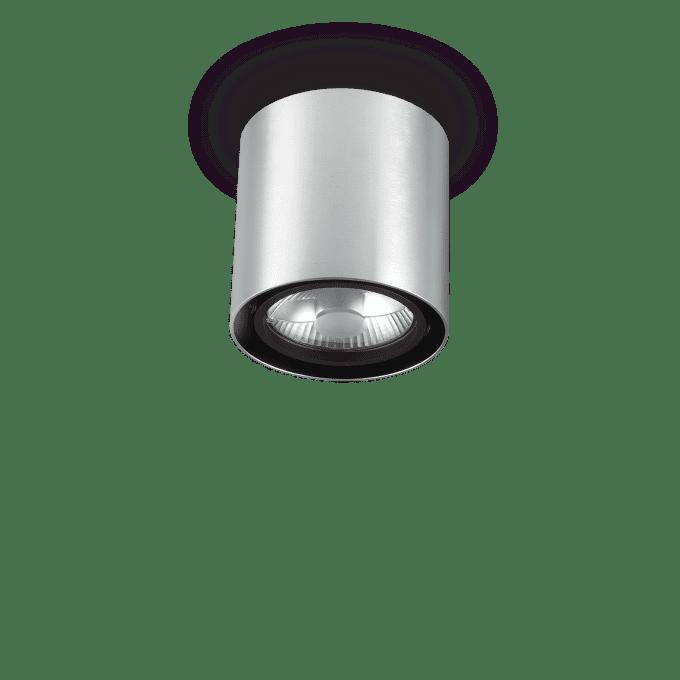 Lámpara de techo de Hierro y color Aluminio
