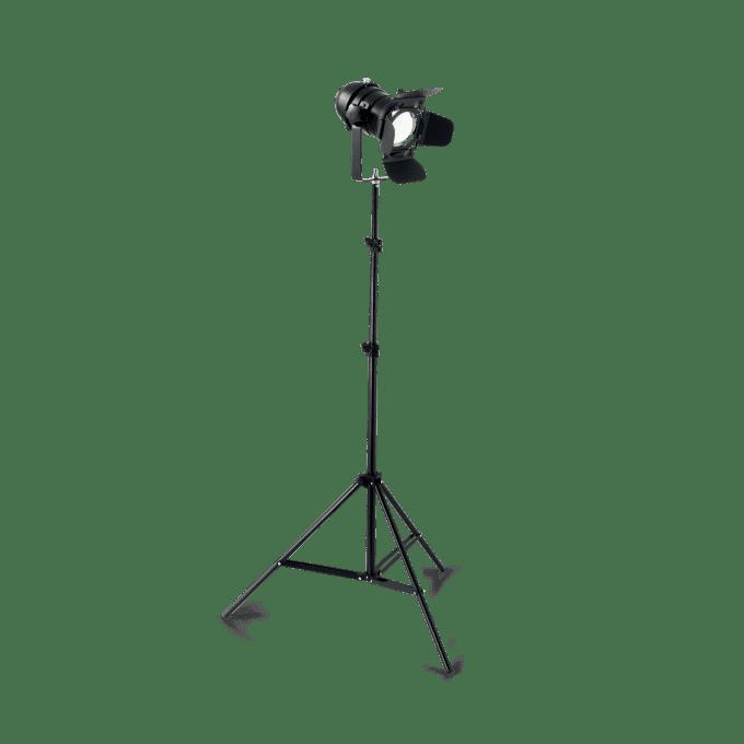 Lámpara de pie de Hierro y color Negro