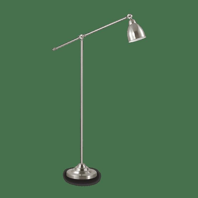 Lámpara de pie de Hierro y color Niquel