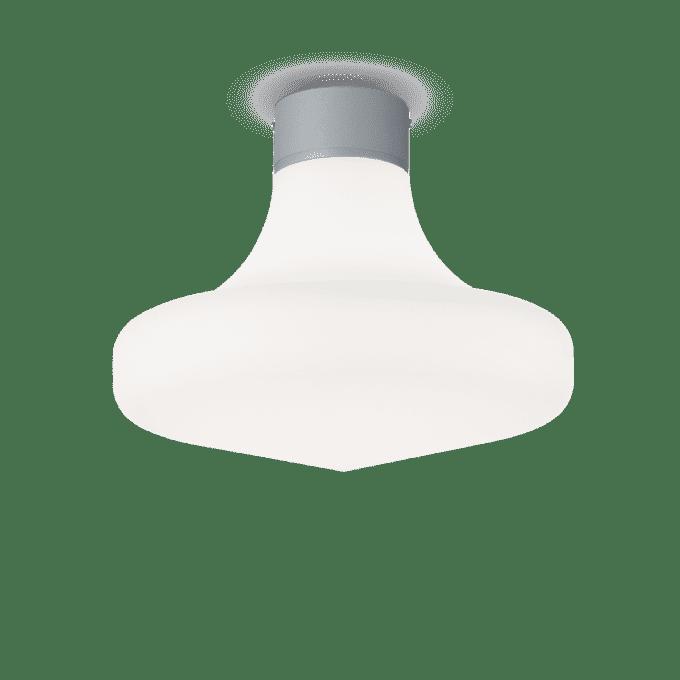 Lámpara de techo de Aluminio y color Gris