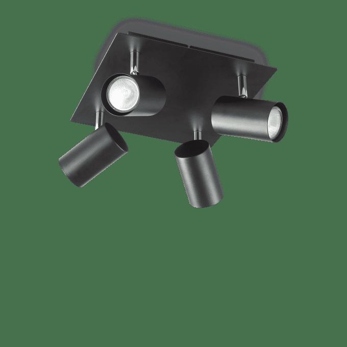 Lámpara de techo de Hierro y color Negro