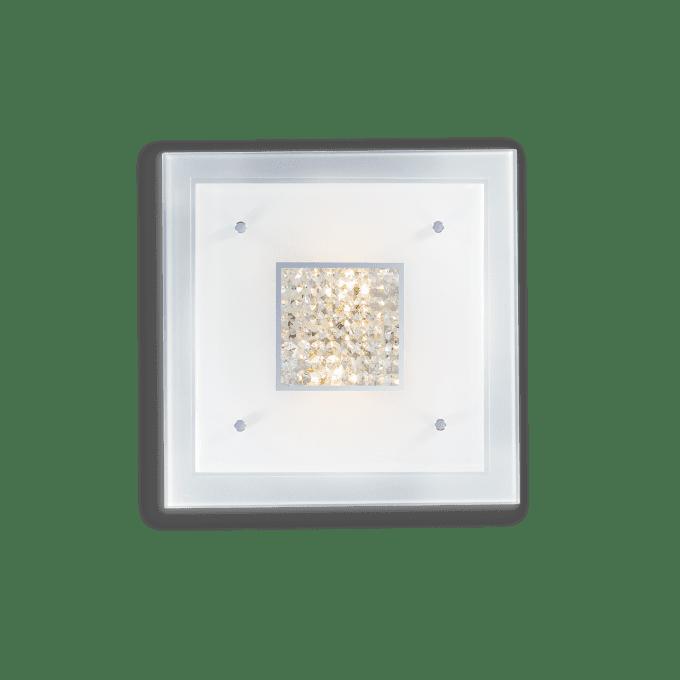 Lámpara de techo de Cristal y color Blanco