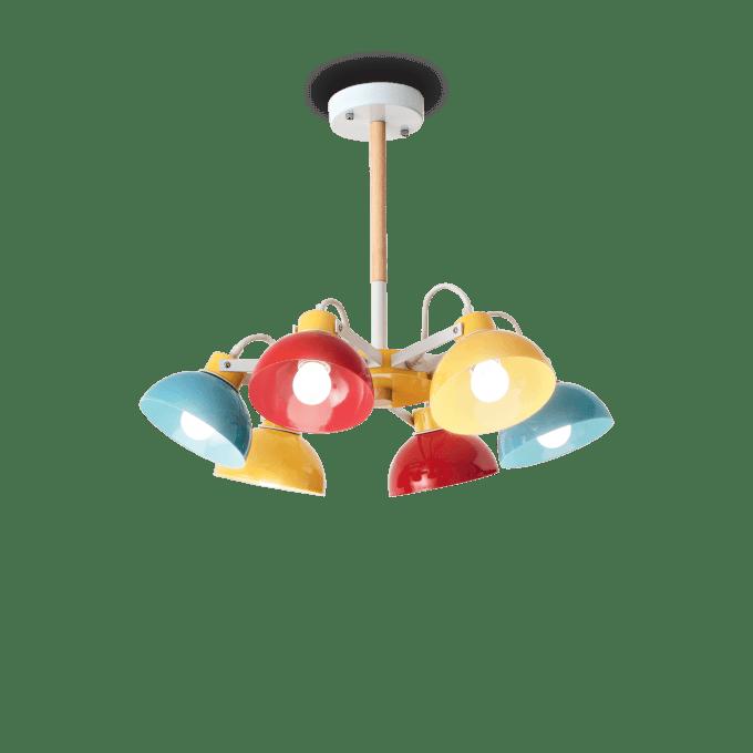 Lámpara de techo de Madera y color Multicolor