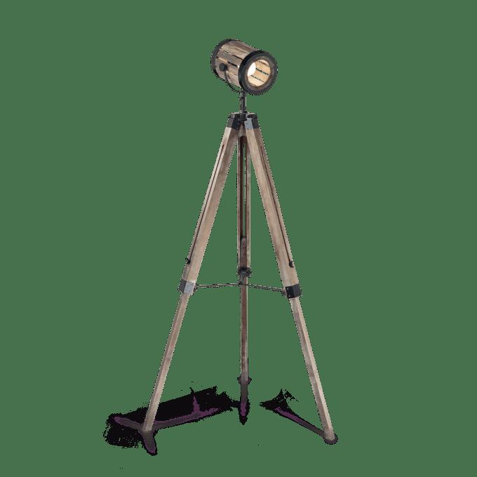 Lámpara de pie de Madera y color Madera