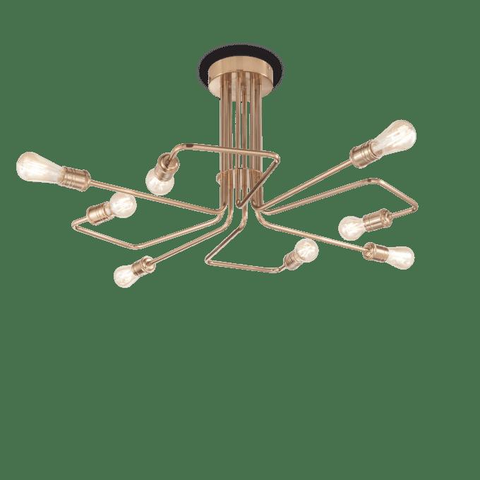 Lámpara de techo de Hierro y color Latón