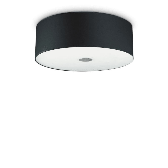 Lámpara de techo de Tela y color Negro