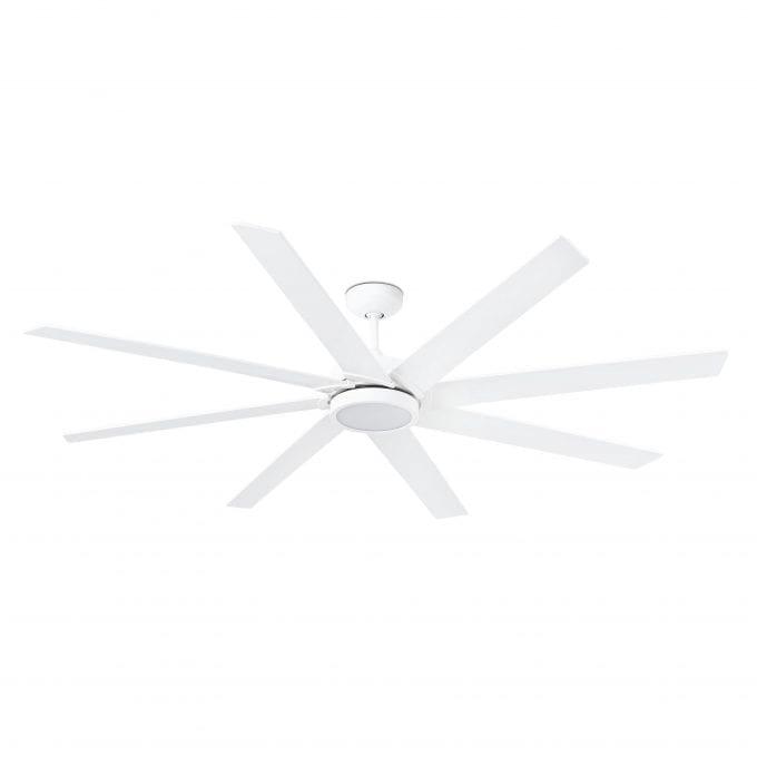 Century 165: Ventilador con luz blanco con 6 de Faro Lorefar