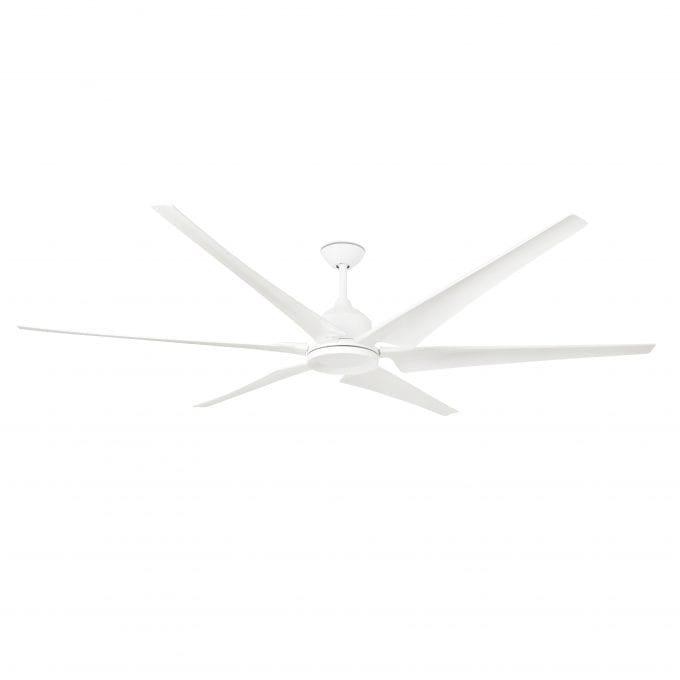 Cies 210: Ventilador con luz blanco con 6 de Faro Lorefar
