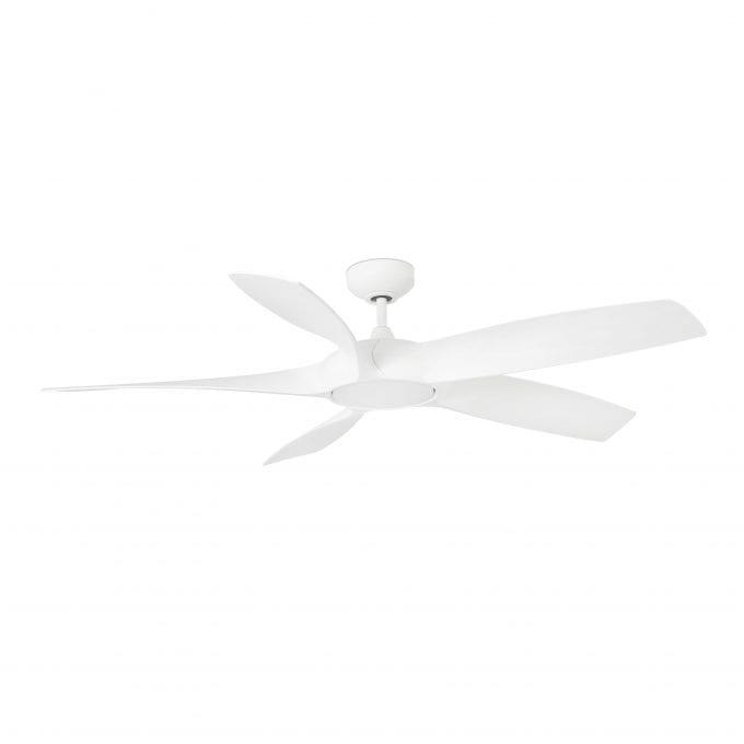 Cocos 137: Ventilador con luz blanco con 5 de Faro Lorefar