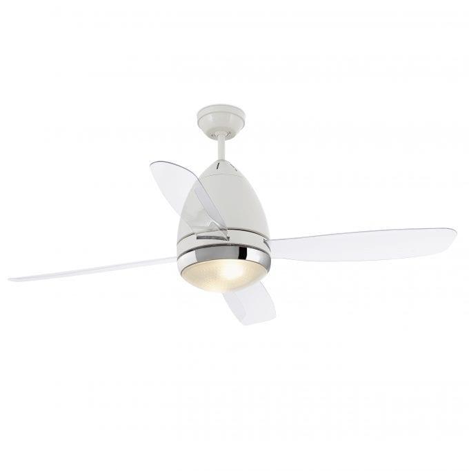 Faretto 132: Ventilador con luz blanco con 3 de Faro Lorefar