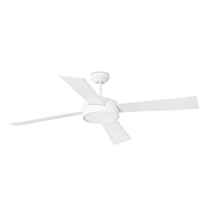 Hydra 132: Ventilador con luz blanco con 4 de Faro Lorefar