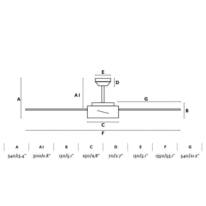 medidas Hydra 132: Ventilador con luz negro