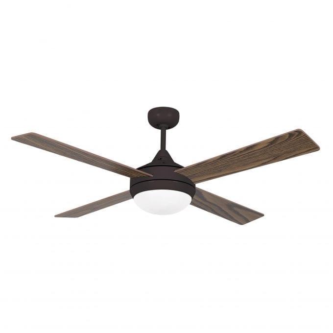 Icaria 132: Ventilador con luz marrón con 4 de Faro Lorefar