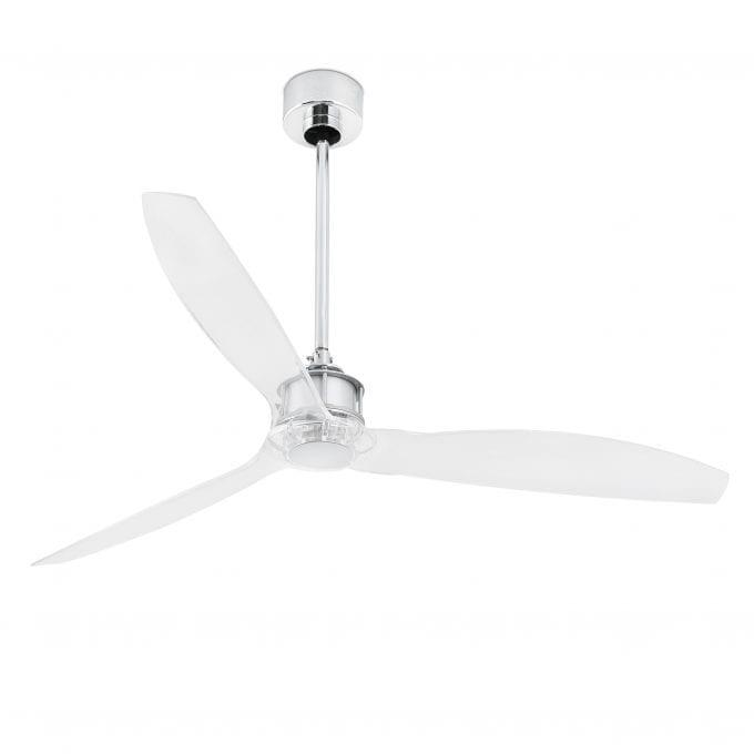 Just Fan 128: Ventilador sin luz blanco con 3 de Faro Lorefar