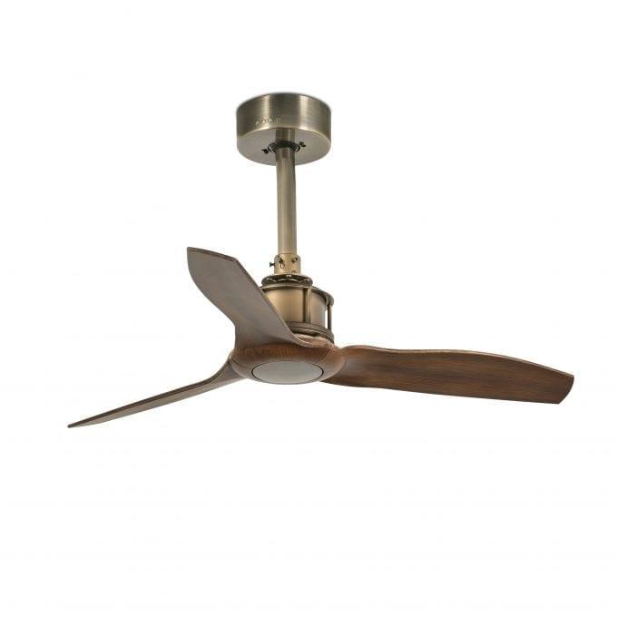 Just Fan 81: Ventilador sin luz oro viejo con 3 de Faro Lorefar
