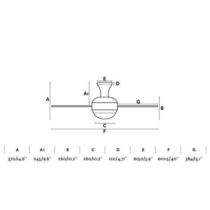 5: Ventilador con luz blanco con 3 de Faro Lorefar