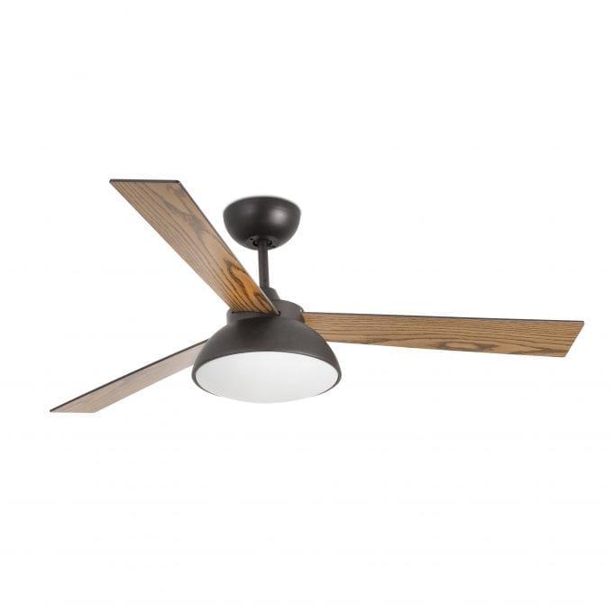 Rodas 132: Ventilador con luz marrón con 3 de Faro Lorefar