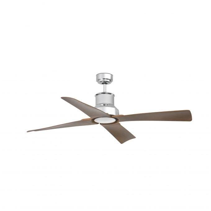 Winche 130: Ventilador sin luz cromo con 4 de Faro Lorefar